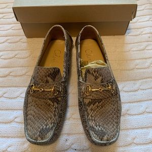 🌟 COLE HAAN snake print driving shoes NEW IN BOX